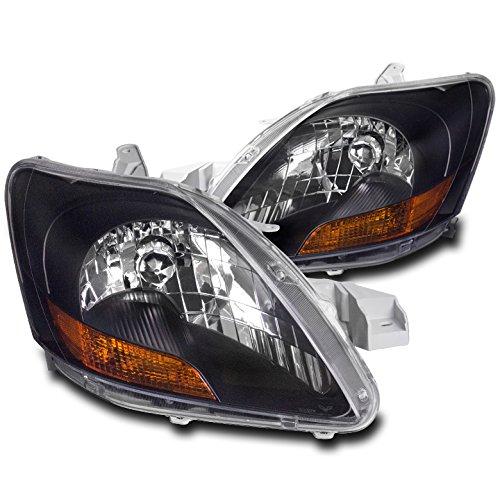(ZMAUTOPARTS 2007-2011 Toyota Yaris Sedan 4-Door models Crystal Headlights - Black)