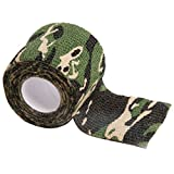 Gilroy 5CM X 4.5M Outdoor Camo Camouflage Wrap Tape for Hunting Rifle Gun Cycling Tool - Green
