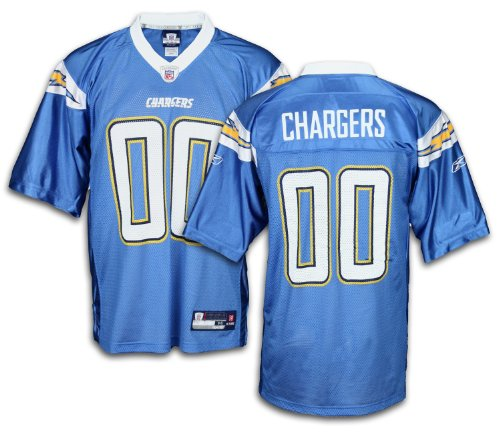 San Diego Chargers Baby Clothes: San Diego Chargers NFL Mens Team Replica Jersey, Blue
