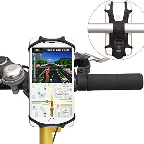 WANPOOL Soporte de Silicona de Teléfonos para Manillar de Bicicleta para Teléfonos de 4 a 6 Pulgadas - iPhone X / 8/8 Plus...