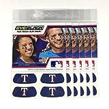 (24 Strips) Eye Black - Texas Rangers Blue MLB Eye Black Anti Glare Strips, Great for Fans & Athletes on Game Day