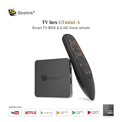 TV Box Android 8 0 - Beelink GT1 Mini-A 4+64GB Amlogic S905X2 Quad Core  Media Streaming Player HDMI 2 1/4K UHD/3D/H 265/2 4+5 8G WiFi with 2 4G Air