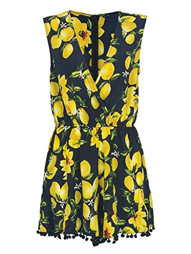 PERSUN Womens Summer Floral Playsuit