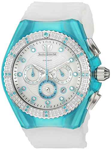 Technomarine-Womens-Cruise-Quartz-Stainless-Steel-and-Silicone-Casual-Watch-ColorWhite-Model-TM-109017