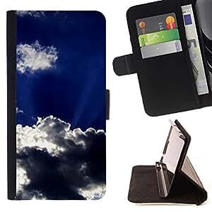 For Samsung Galaxy S5 V SM-G900 Case , Sun Nubes Dios Inspiring Cielo Verano- la tarjeta de Crédito Slots PU Funda de cuero Monedero caso cubierta de piel