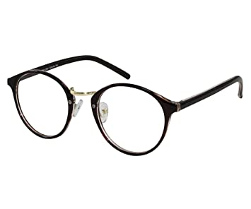 cf4ef4e543 Amazon.com   EyeBuyExpress Bifocal Men Women Glasses Reading RX Retro Brown  Circular Lenses Retro Traditional   Beauty