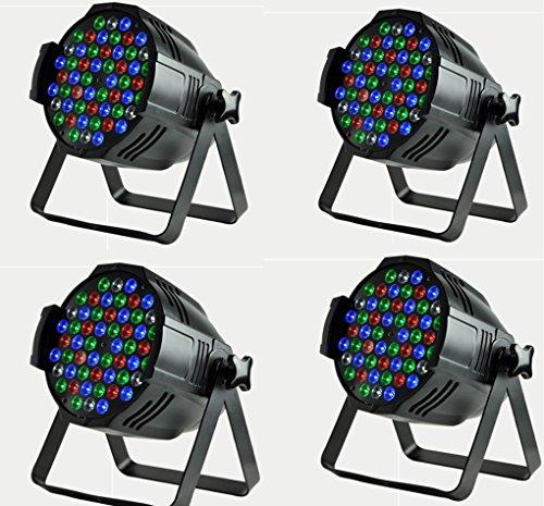 Boryli LED PAR Lights 54 RGBW LED Super Thin 8 Channel DMX512 Par Can Stage Lighting for Festival Party Disco Wedding DJ KTV