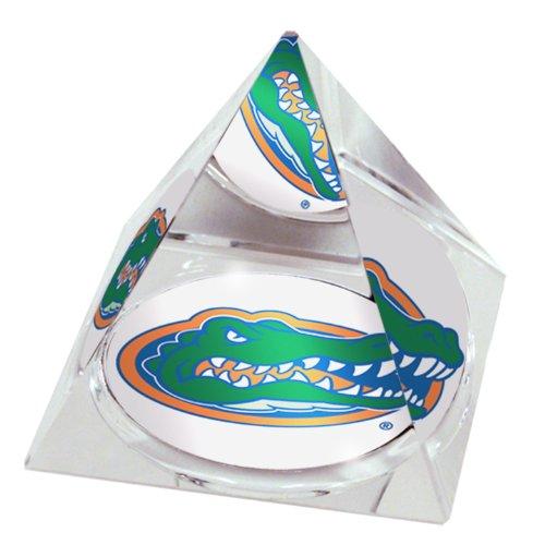 Pyramid Mascot Paperweight Crystal - NCAA Florida University Gators  mascot in 2