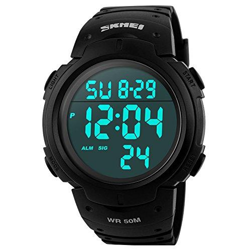 SKMEI S-Shock Sports Waterproof LED Digital Watch (Black) - 9
