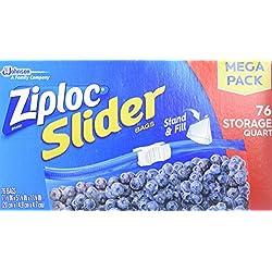 Ziploc Slider Storage Bags Quart, 76.0 Count