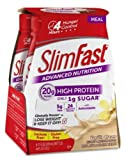SlimFast Advanced Nutrition Meal Replacement Shake, Vanilla Cream (Pack of 18)