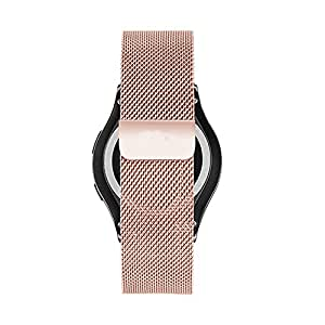 Cbin Samsung Galaxy Gear S2 Classic Smartwatch Band Stainless Steel Fully Magnetic Closure Milanese Bracelet SM-R732 SM-R735- Rose Gold