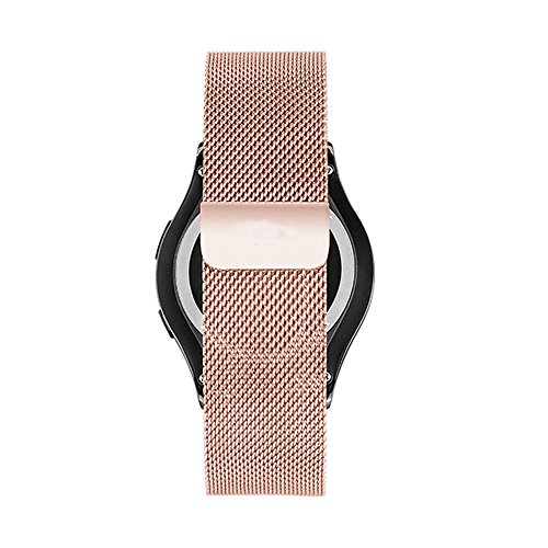 Cbin Samsung Galaxy Gear S2 Classic Smartwatch Band Stainless Steel Fully Magnetic Closure Milanese Bracelet SM-R732 SM-R735- Rose Gold - Gear 2 Band