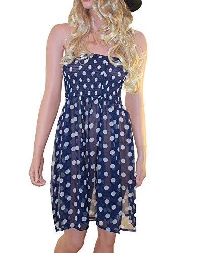 Raivar Damen Kleid blau blau