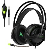 Cheap SUPSOO G810 PS4 Xbox one 3.5mm Gaming Headset Jack In-Line Volume Control Over-Ear Gaming Headphones with Mic (Black)