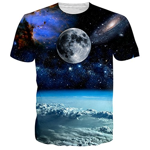 Uideazone Unisex 3D Printed Pattern Short Sleeve Shirt Cool Graphics Tees Tops