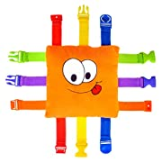 BUCKLE TOY  Bizzy  - Toddler Early Learning Basic Life Skills Children's Plush Travel Activity