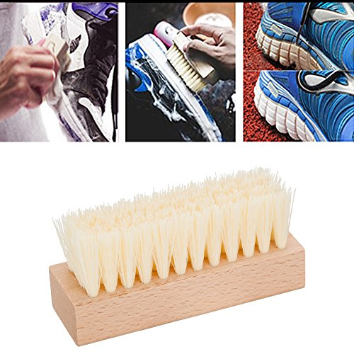 Premium Shoe Brush Kit & Valet with Horsehair Shine & Crepe Suede Leather & Synthetic Bristle Handcrafted Wood Block Brush for Shoes brushing, Bags, Leather cloth clean- 3 Pieces by chuanyuekeji (Image #5)