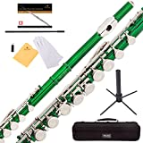 Mendini Closed Hole C Flute with Stand, 1 Year