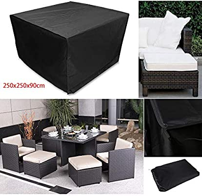 Funda Protectora Para Muebles De JardíN, Funda Para Silla De Exterior Funda Protectora Para Muebles, Tela Oxford 210D, Repelente Al Agua, Anti-DecoloracióN, Negro, Disponible En 6 TamañOs: Amazon.es: Jardín