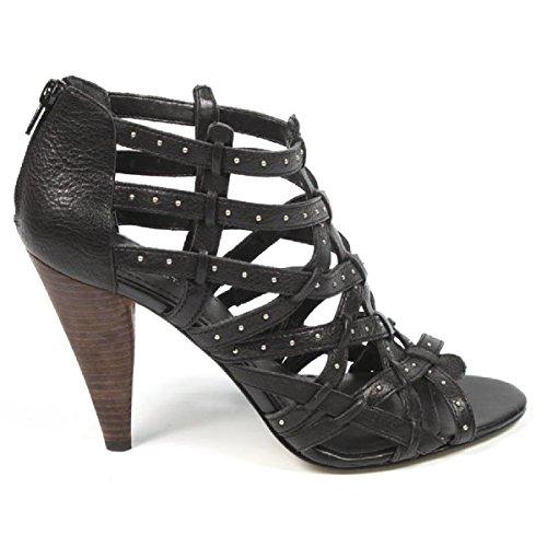Black Nine Sandales Cut Nwkentaro Out West Femmes qPSP1rYT