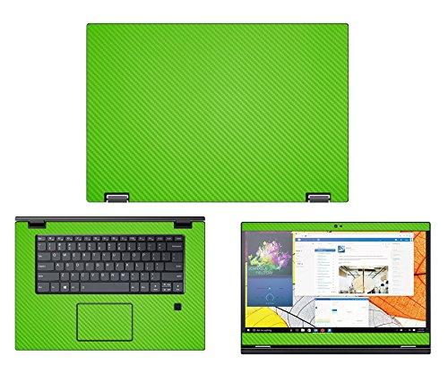 """Protective decal for Lenovo Flex 5 (15.6"""" Screen) Laptop GREEN Carbon Fiber skin case cover wrap - Decalrus CFFlex5_15Green"""