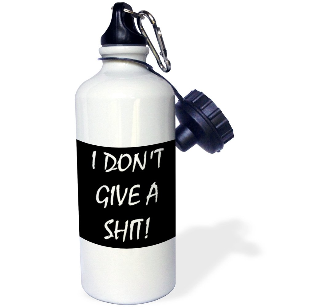 3dRose wb/_216369/_1 I Dont Give A Shit Sports Water Bottle 21 oz Multicolor