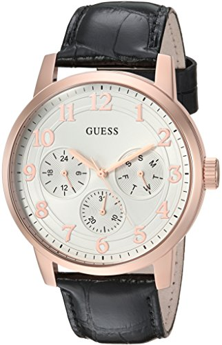 GUESS Quartz Stainless Leather Casual