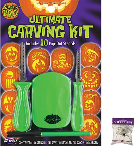 Potomac Banks Bundle: 2 Items - 14 Piece Ultimate Carving Kit and Free Spider Web (Comes with Free How to Live Stress Free Ebook) -