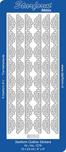 (Elizabeth Craft Designs Lace Fan 2 Peel Off Stickers 4