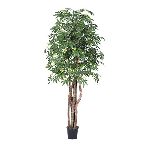 Vickerman 6' Artificial Japanese Maple Executive set in Black Pot ()