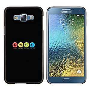 Funda para Smartphone carcasa rígida cubierta protectora para Samsung Galaxy E7 E700/funda carcasa/TECELL Store de colores Signs