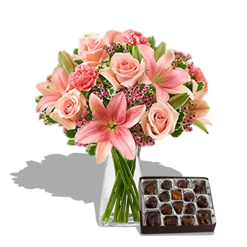 Pink perfection Bouquet with Chocolate by Send Gifts