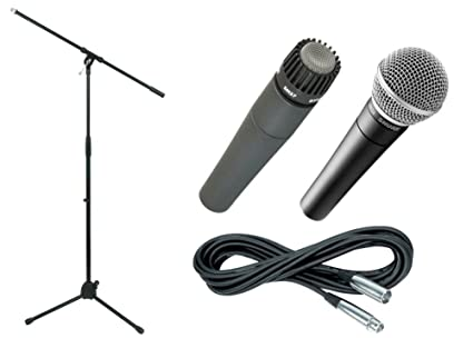 Amazon com: Shure SM57 & SM58, Stand & Cable Package: Musical