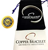 PEWTER Copper Bracelet for Arthritis - GUARANTEED 99.9% PURE Copper Magnetic Bracelet For Men & Women With 6 Powerful Magnets For Effective Relief Of Joint Pain, Arthritis, RSI, & Carpal Tunnel!