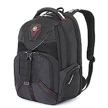 SwissGear SA5892 Black TSA Friendly ScanSmart Computer Backpack - Fits Most 18 Inch Laptops and Tablets