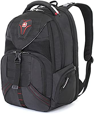 Swiss Gear SA5892 Black TSA Friendly ScanSmart Laptop Backpack Fits Most 15 Inch Laptops and Tablets