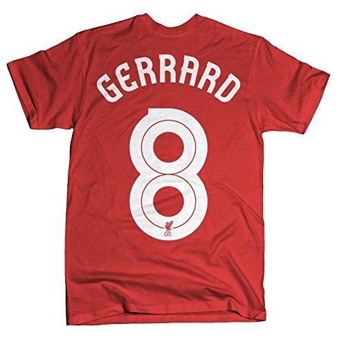 Steven Gerrard Liverpool (Liverpool FC Steven Gerrard Hero T-Shirt (Small))