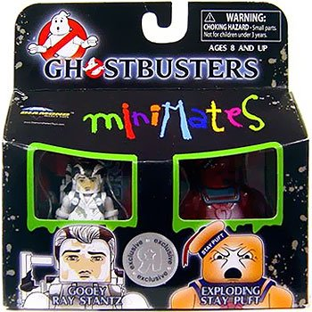 Best Of Ghostbusters Mini Mates Gooey Ray Stantz and Exploding Stay Puft