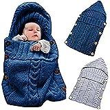 Colorful punto de lana de bebé recién nacido Wrap Manta...