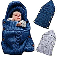Colorful Newborn Baby Wrap Swaddle Blanket, Oenbopo Baby Kids Toddler Knit Bl...