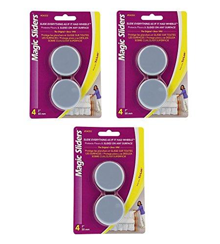 Magic Sliders 04050 Self-Adhesive Discs 2 inch-4 Count (Pack of 3)