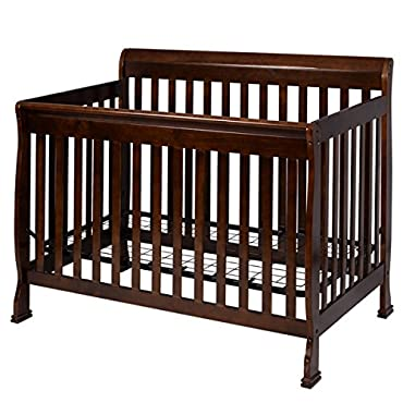 MTN-G Coffee Pine Wood Baby Toddler Bed Convertible Crib Nursery Furniture Children