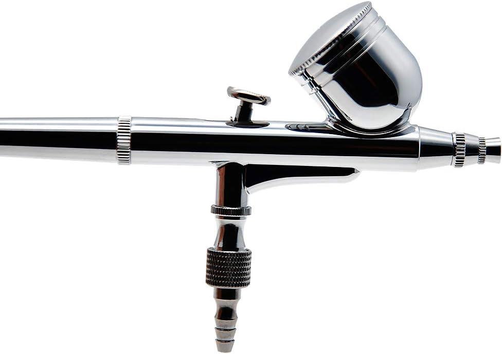 AMTAST Airbrush Doppelaktion 7cc Becher D/üse 0.3 mm Schwerkraft Doppel Aktion Airbrush Air Paint Spritzpistole Kit Set Professionelles Airbrush System Kit Luftkompressor mit Werkzeugkasten
