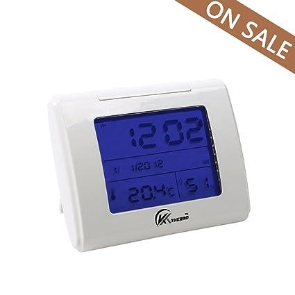Casa la humedad Monitor KT térmico interior termómetro higrómetro digital monitor con pantalla LCD alarma reloj
