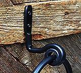 Towel Ring- Wrought Iron - Rustic hand towel ring - Wall mount - Black - Handmade