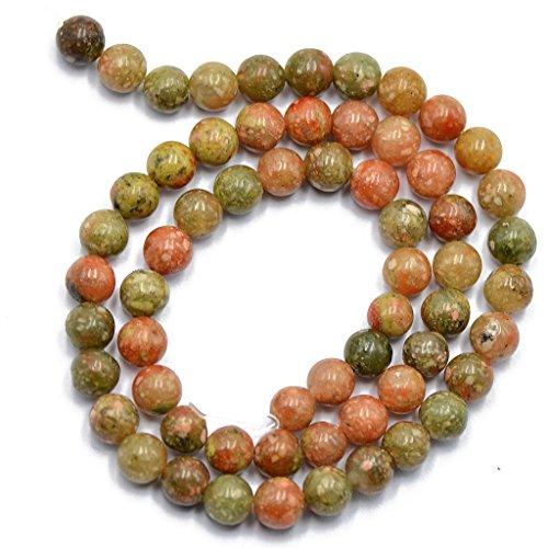 Jili Online Natural Autumn Jasper Round Gemstone Bead 6mm For Jewelry Making