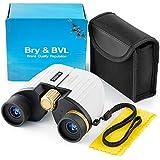 Binoculars for Kids - High Resolution, Shockproof, Compact - 8X22 Kids Binoculars for Bird Watching, Best Gift for Boys, Girls - Real Optics Set for Outdoor Toddler Games - Detective, Spy Kid - White