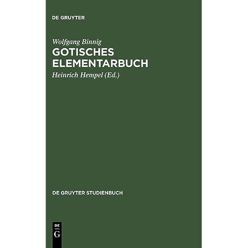 Gotisches Elementarbuch (De Gruyter Studienbuch)