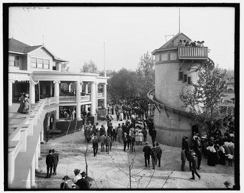 Photo: Chester Park,amusement,building,tower,Cincinnati,Ohio,OH,Detroit Publishing,1900